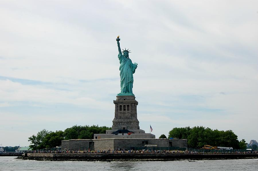 Statue Photograph - Lady Liberty by Beverly Hammond