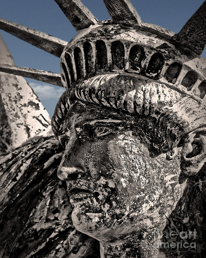 Cultural Artifacts Photograph - Lady Liberty by Danuta Bennett