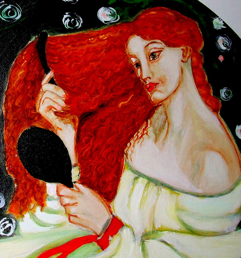 Pre-raphaelites Painting - Lady Lilith by Rusty Woodward Gladdish