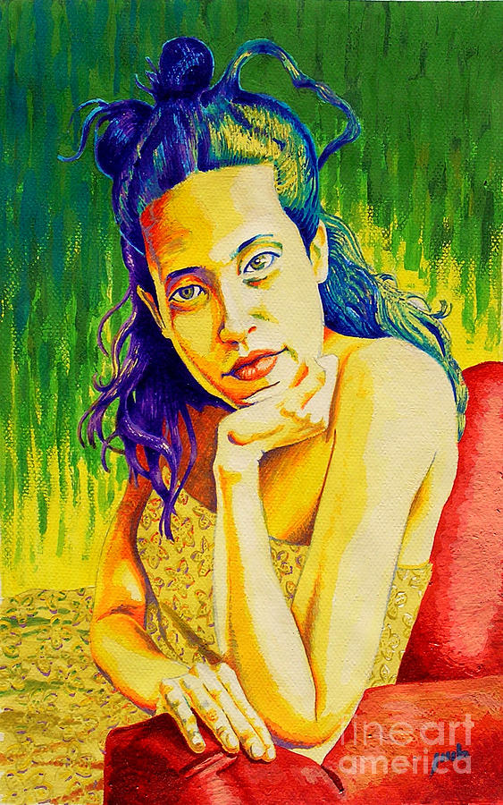 Women Painting - Lady N Colour by Jose Miguel Barrionuevo