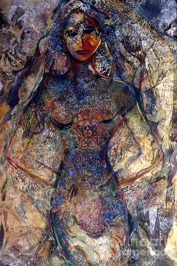 Lady Of Los Lunas Mixed Media by Charles B Mitchell