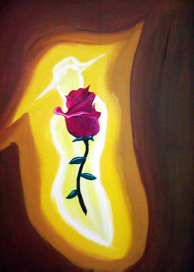 Lady Painting - Lady Rose by Burma Brown
