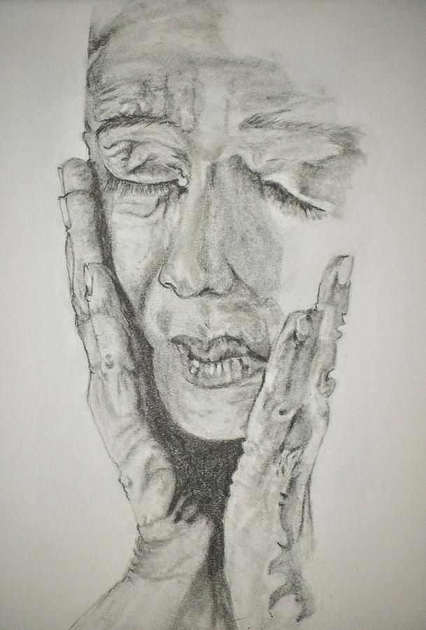 Lady Drawing - Lady With Hands by Glenn Calloway