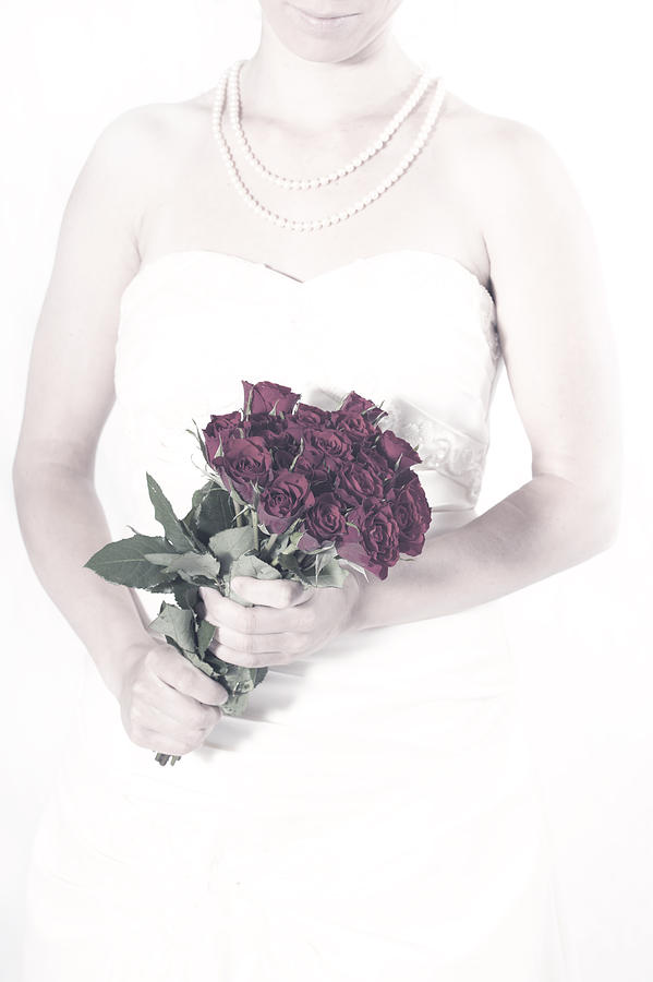 Female Photograph - Lady With Roses by Joana Kruse