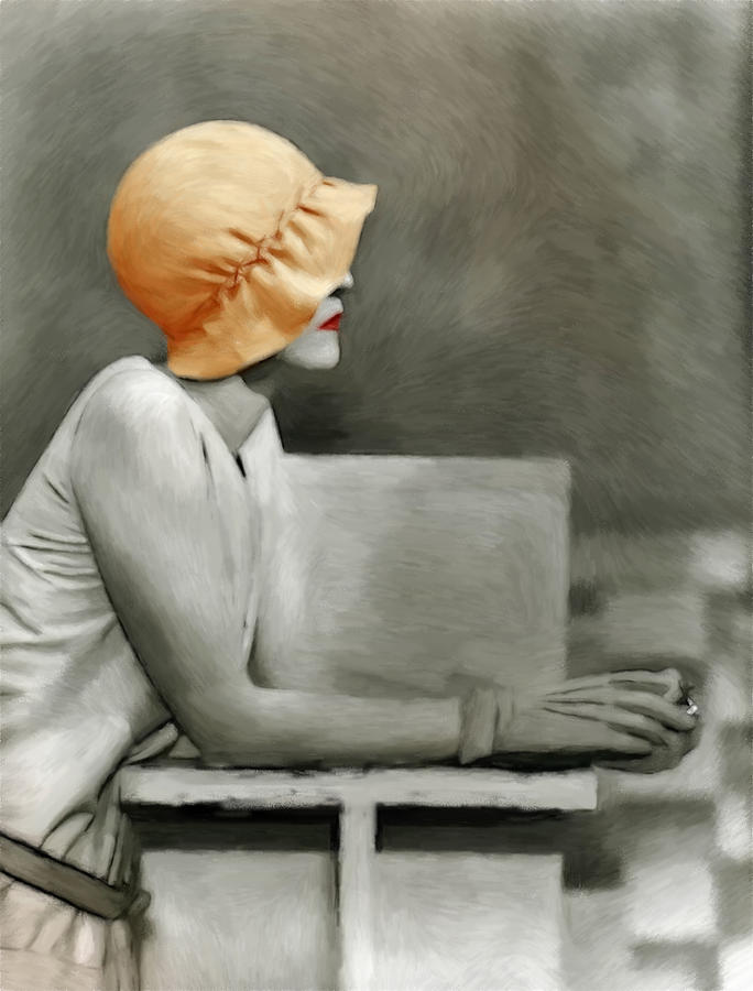 Lady With The Orange Hat Pastel by Steve K