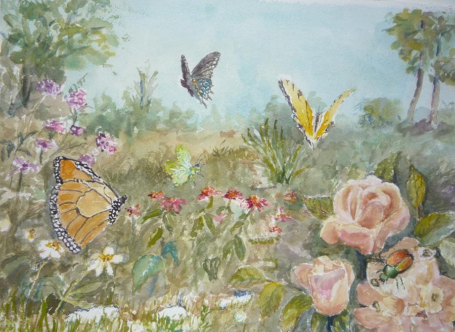 Ladybug Painting by Dorothy Herron