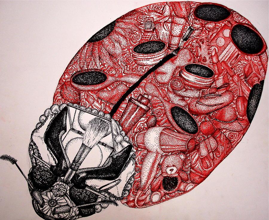 Ladybug Drawing - Ladybug by Lauren Webb