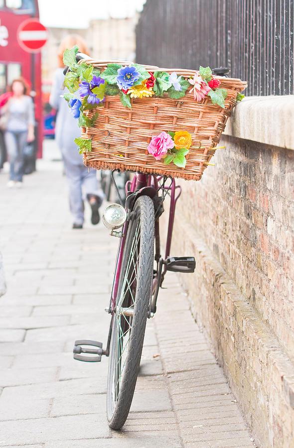 Basket Photograph - Ladys Bike by Tom Gowanlock