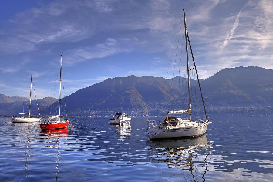 Sail Boats Photograph - Lago Maggiore by Joana Kruse