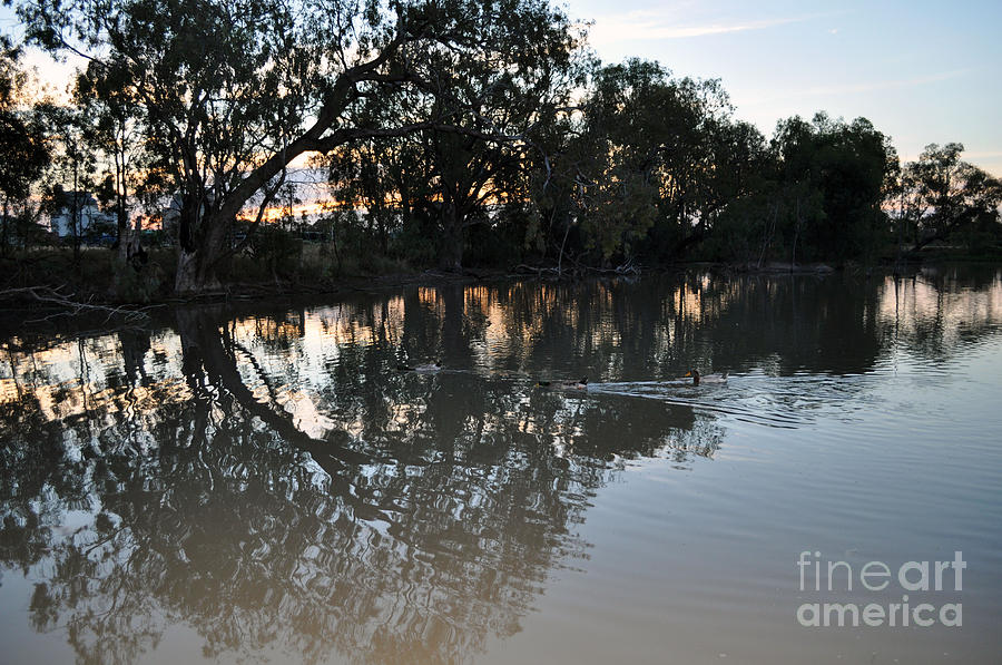 Lagoon Photograph - Lagoon At Dusk by Joanne Kocwin