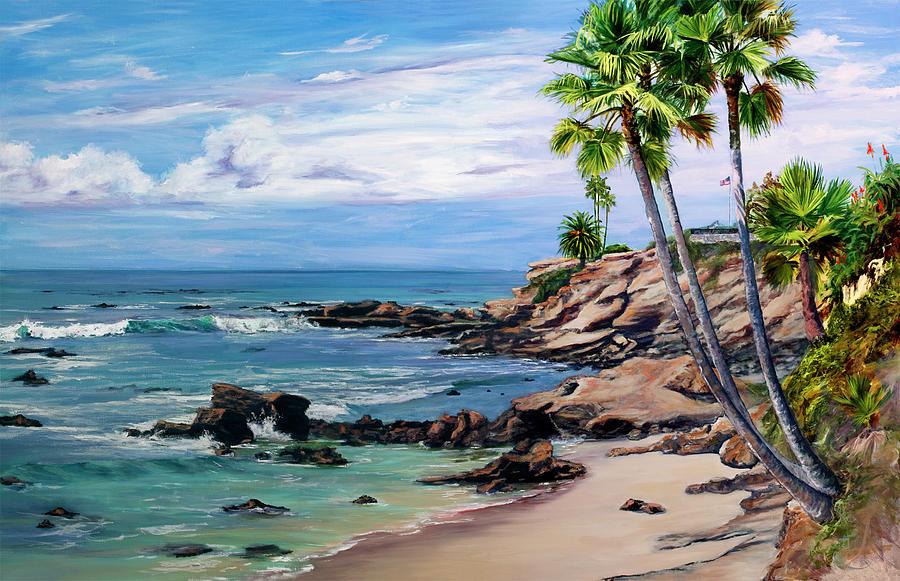 Laguna Beach Painting By Lisa Reinhardt