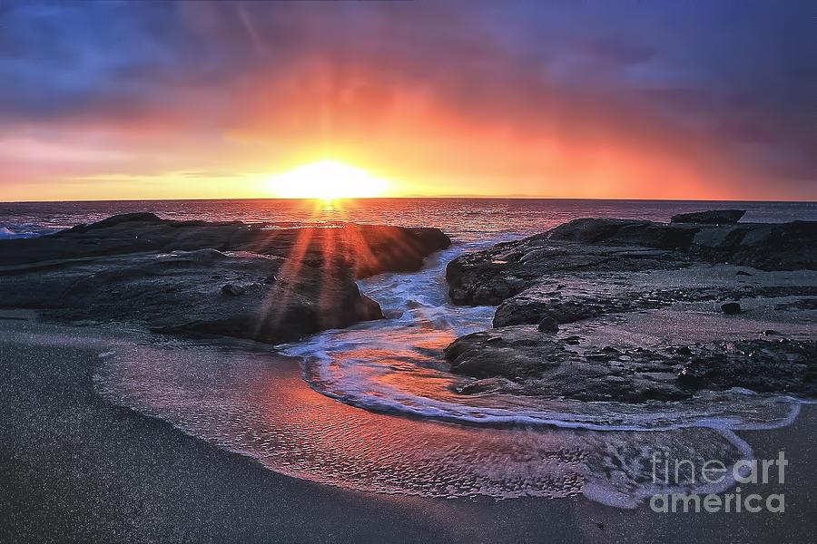 California Photograph - Laguna Beach Sunset by Elena Northroup