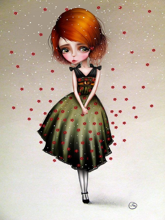 Girl Digital Art - Lainey by Jessica Von Braun