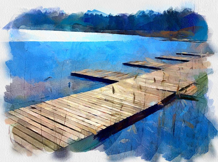 Summer Digital Art - Lake 3 by Yury Malkov