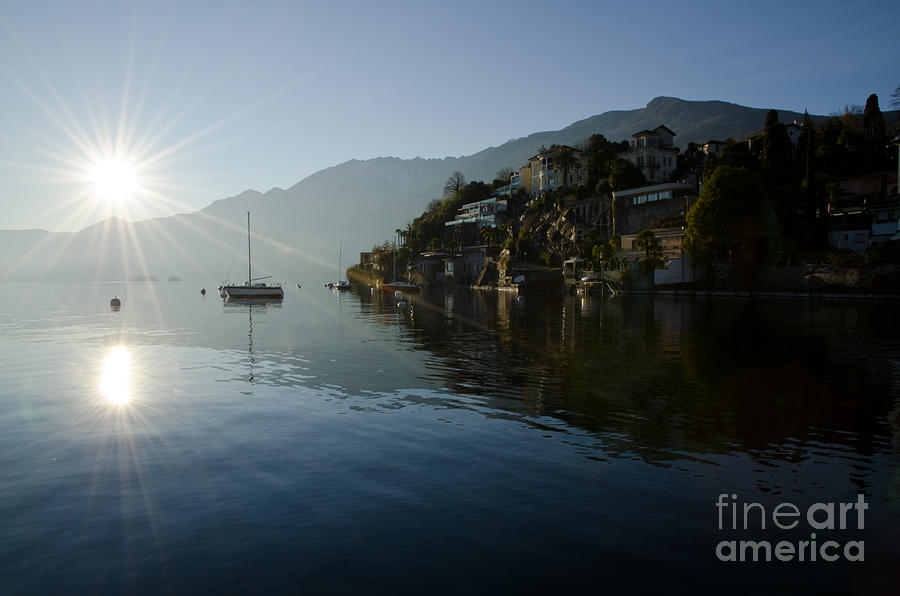Lake Photograph - Lake And Sunlight by Mats Silvan