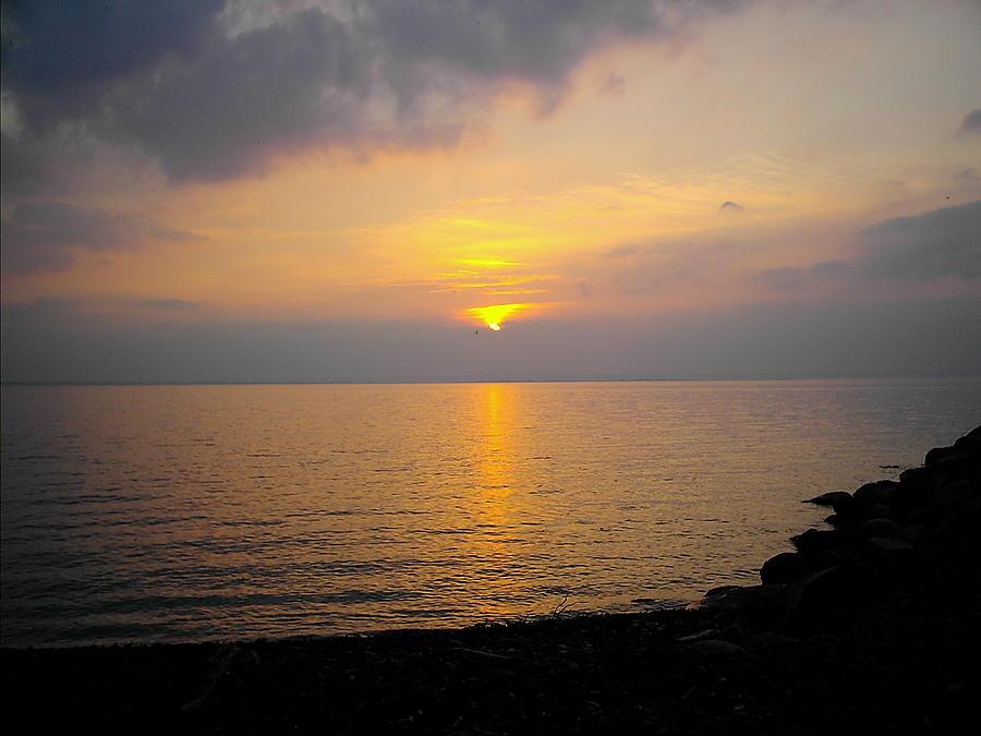 Lake Photograph - Lake At Sunset by Christoffer Saar
