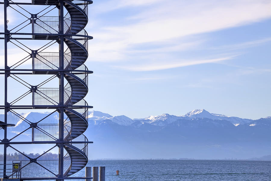 Lookout Photograph - Lake Constance Friedrichshafen by Joana Kruse