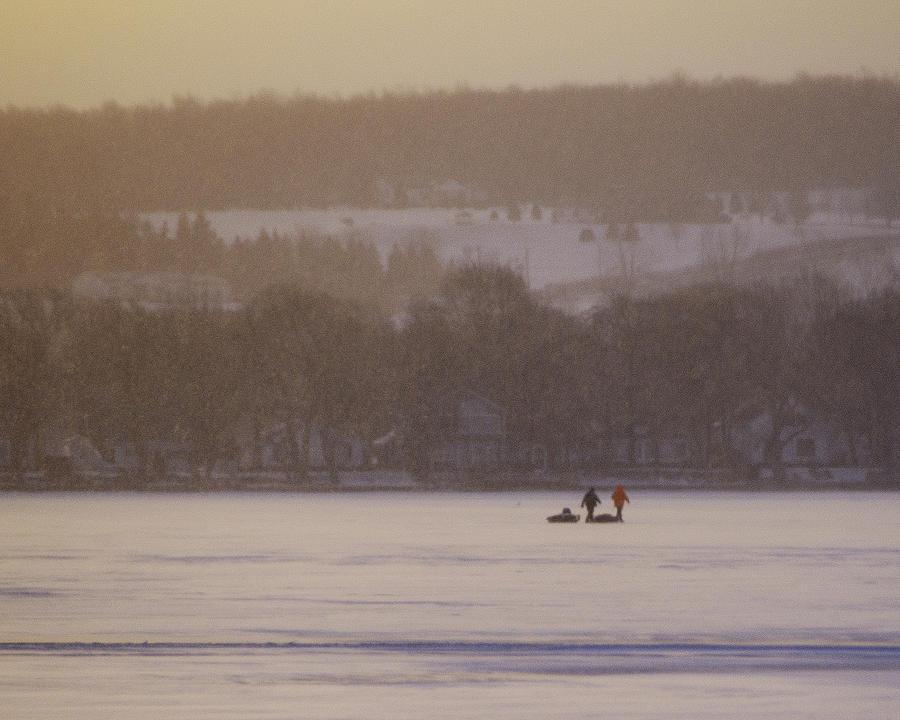Canandaigua Lake Photograph - Lake Crossing  February 2010 by Joseph Duba