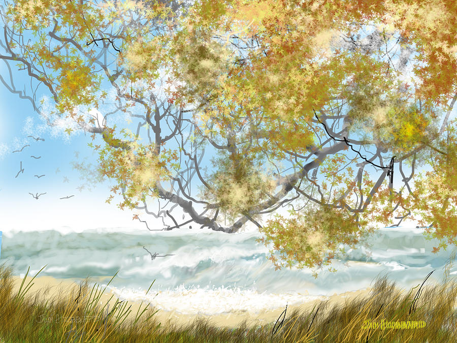 Lake Erie Drawing - Lake Erie Anger by Jim Hubbard