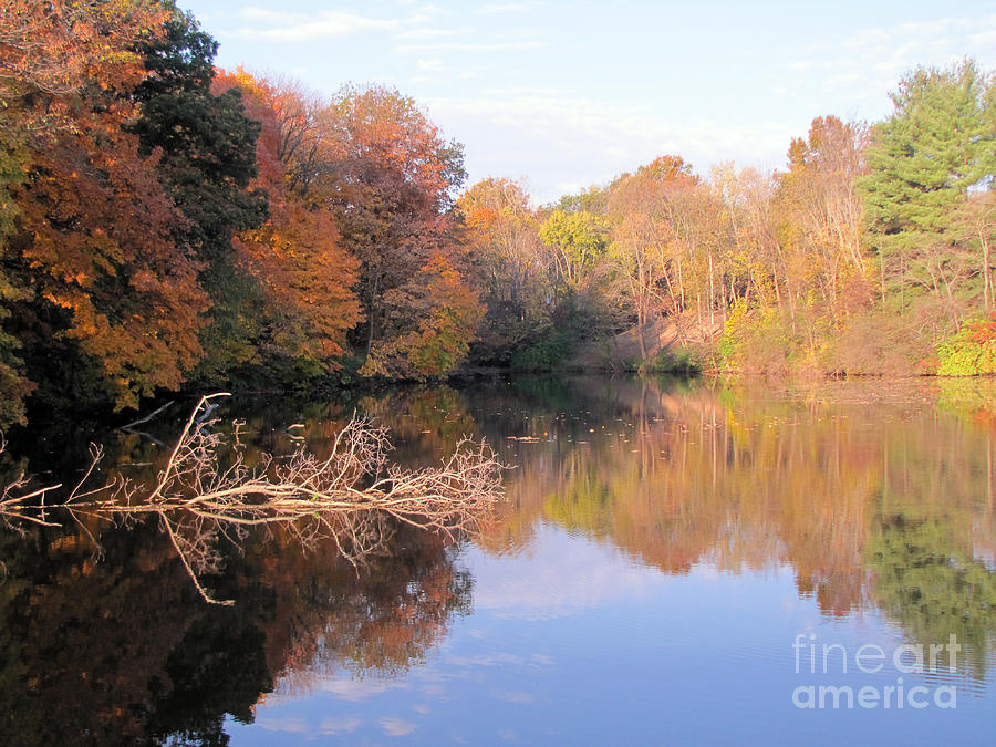 Fall Photograph - Lake In Autumn by Richard Nickson