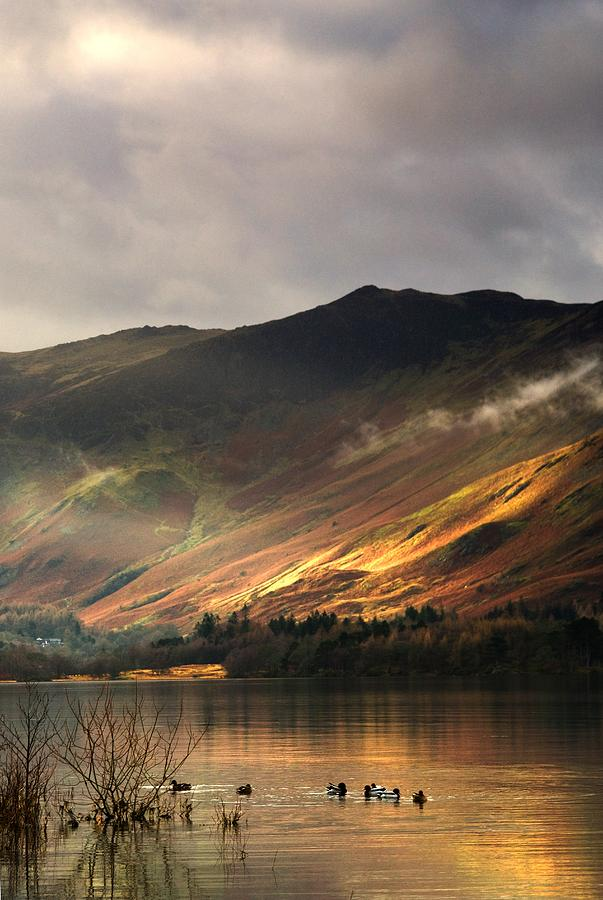 Day Photograph - Lake In Cumbria, England by John Short