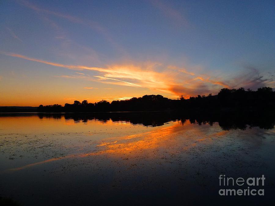 Lake Photograph - Lake In Dusk by Amalia Suruceanu