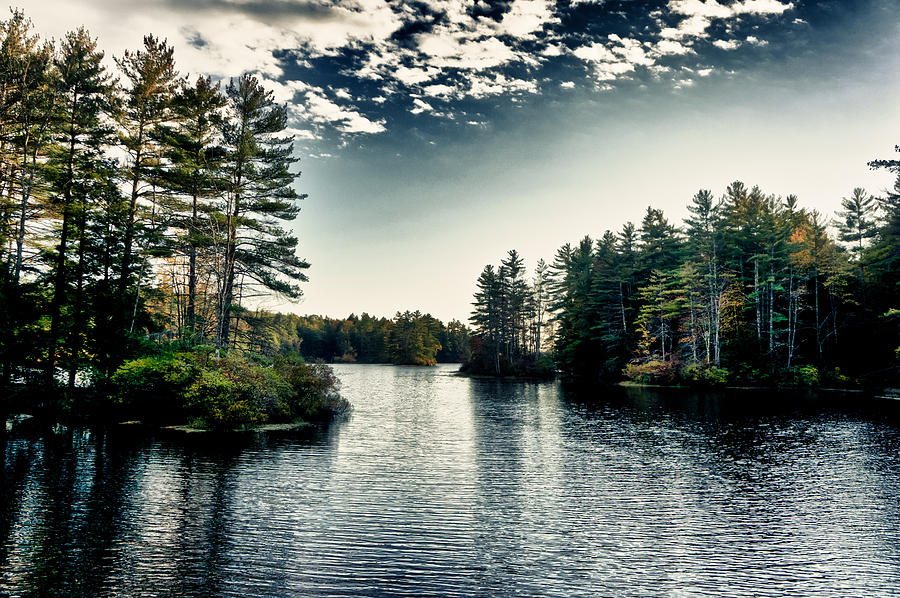 Lake Photograph - Lake in New Hampshire by Edward Myers