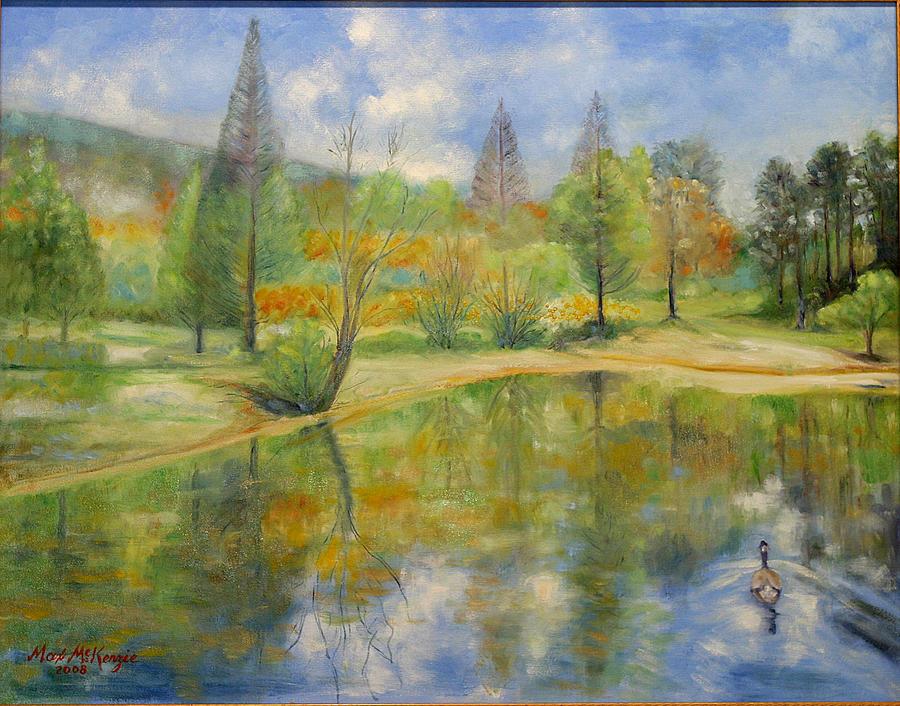 Spring Painting - Lake In Springtime. by Max Mckenzie
