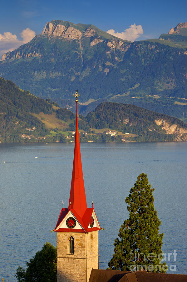 Saint Photograph - Lake Lucerne by Brian Jannsen