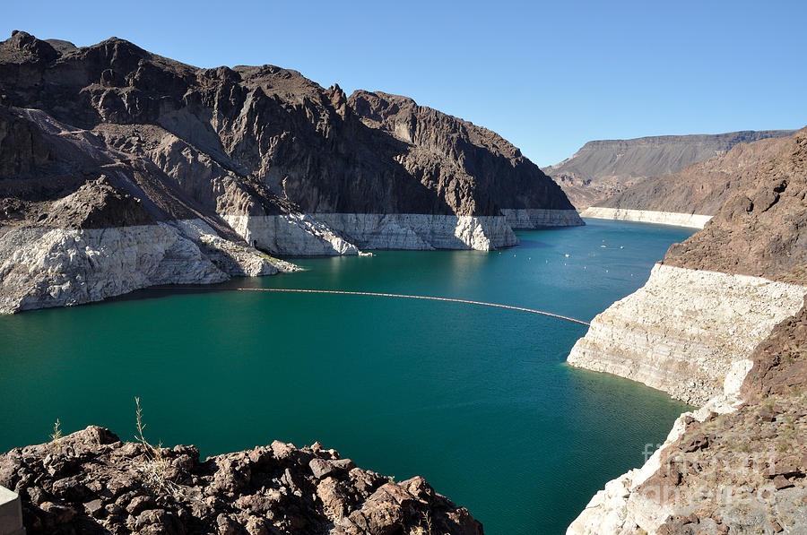 Lake Photograph - Lake Mead By Hoover Dam by Gary Whitton