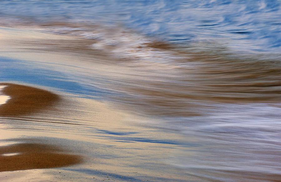 Abstract Photograph - Lake Michigan Surf by Dean Pennala