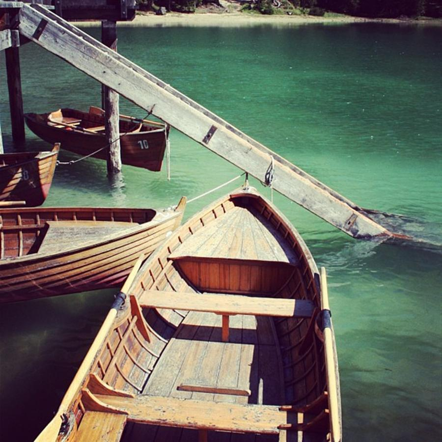 Lake Photograph - Lake of Braies - Alto Adige by Luisa Azzolini