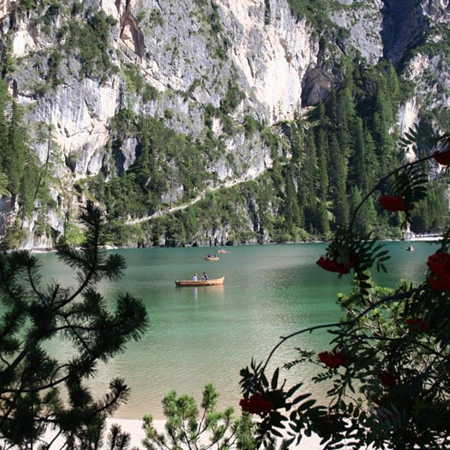 Dolomites Photograph - Lake of Braies by Luisa Azzolini