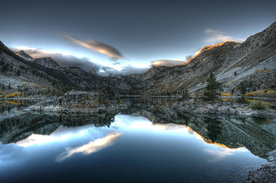 Hdr Photo Photograph - Lake Sabrina Bishop Ca by Joe  Palermo