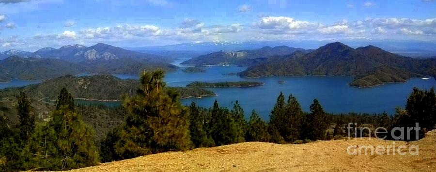 Panorama Photograph - Lake Shasta by Garnett  Jaeger