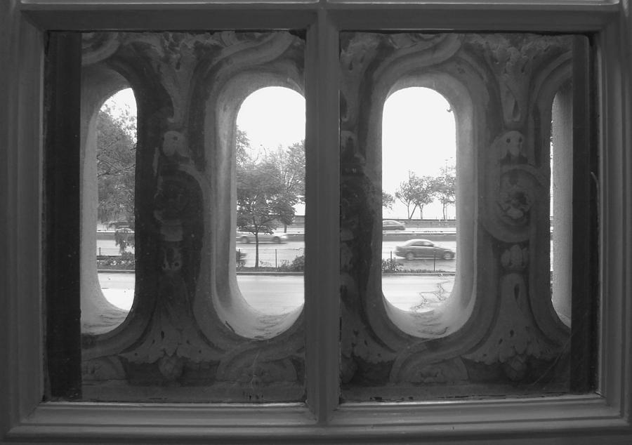 Window Photograph - Lake Shore Drive by Anna Villarreal Garbis