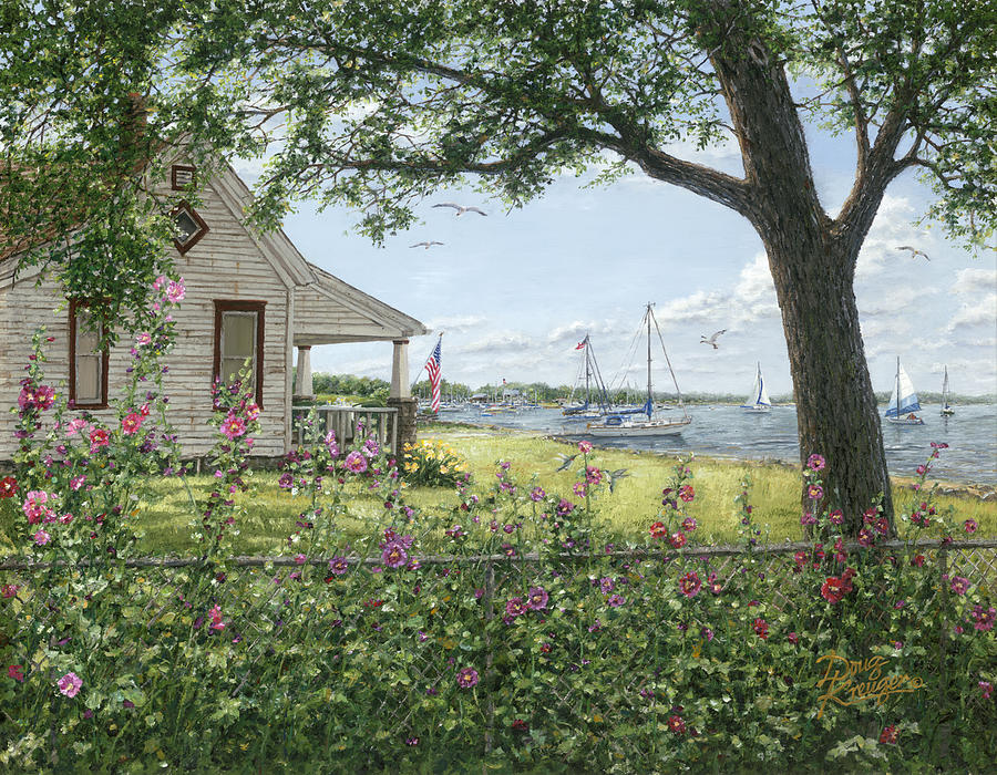 Lake Painting - Lake Somewhere by Doug Kreuger