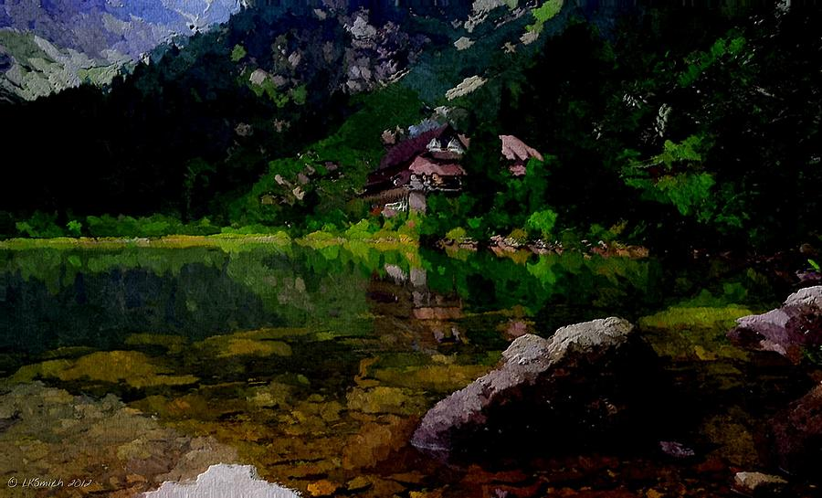 Landscape Painting - Lake Tahoe by Lynda K Cole-Smith