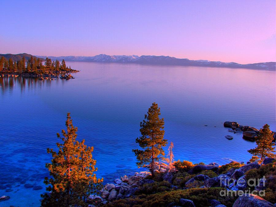 Sand Harbor State Park Photograph - Lake Tahoe Serenity by Scott McGuire