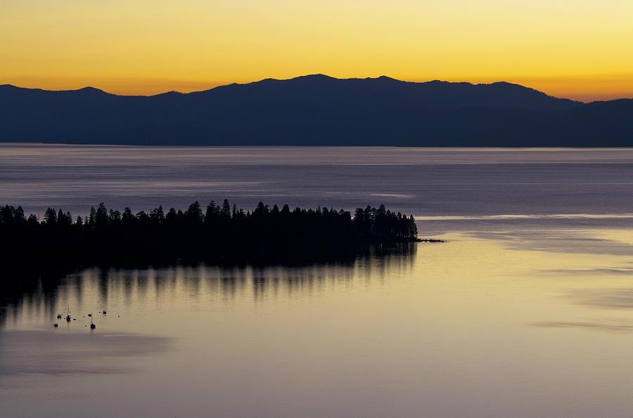 Tahoe Photograph - Lake Tahoe Silhouette - California by Brendan Reals