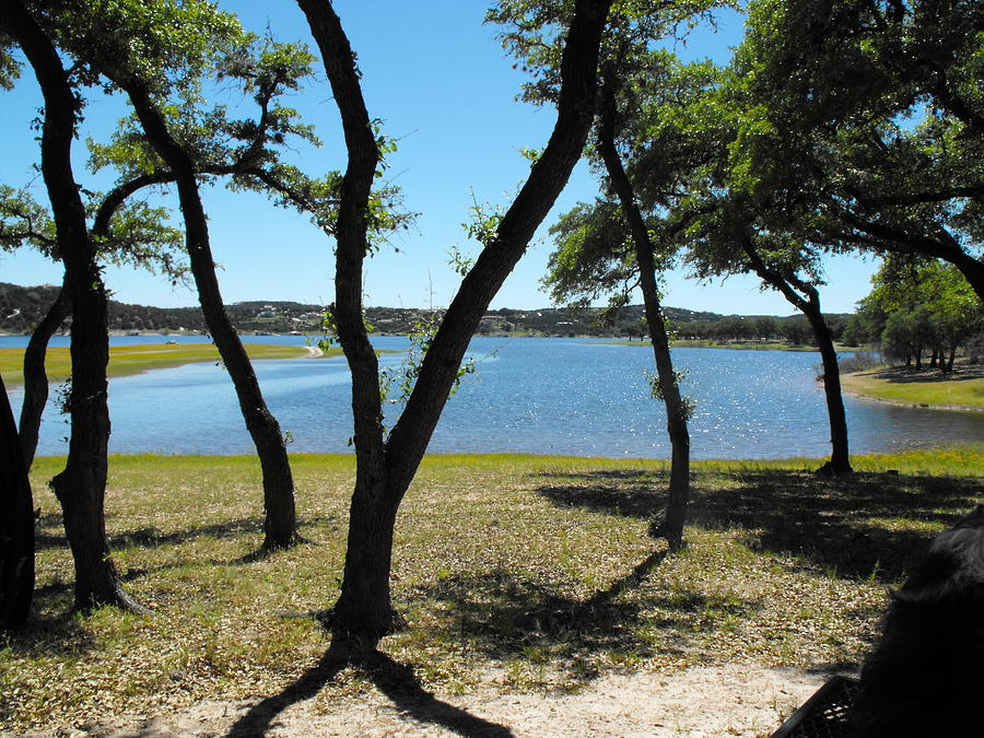 Lake Travis  At Lago Vista Photograph - Lake Travis  by Rebecca Cearley