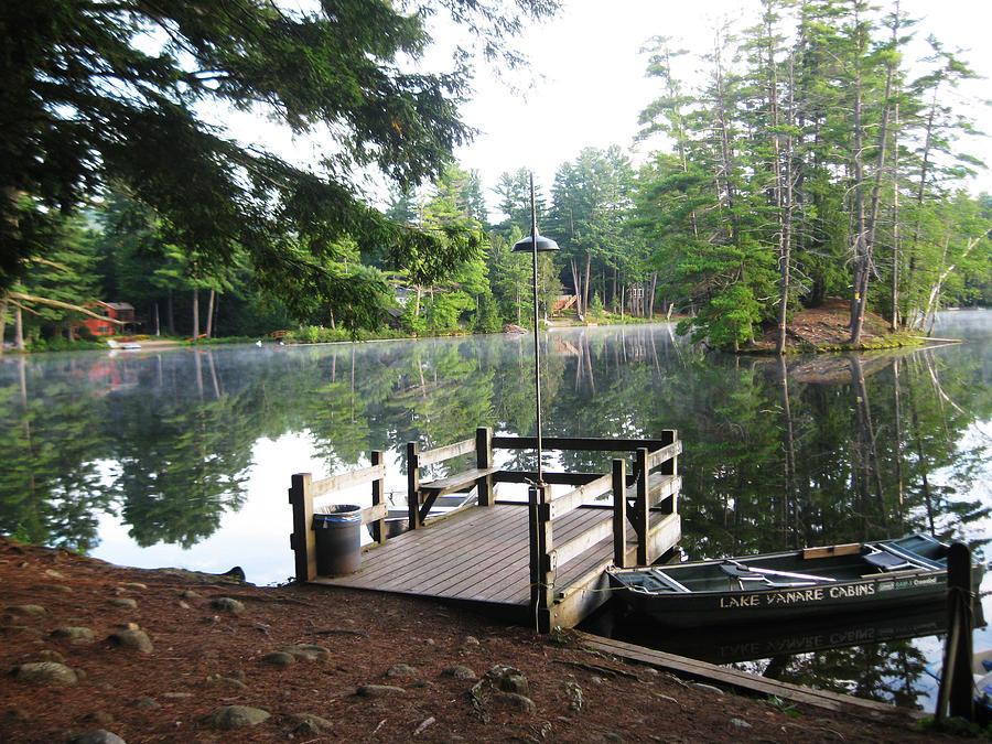 Landscape Photograph - lake Vanare dock by Lali Partsvania