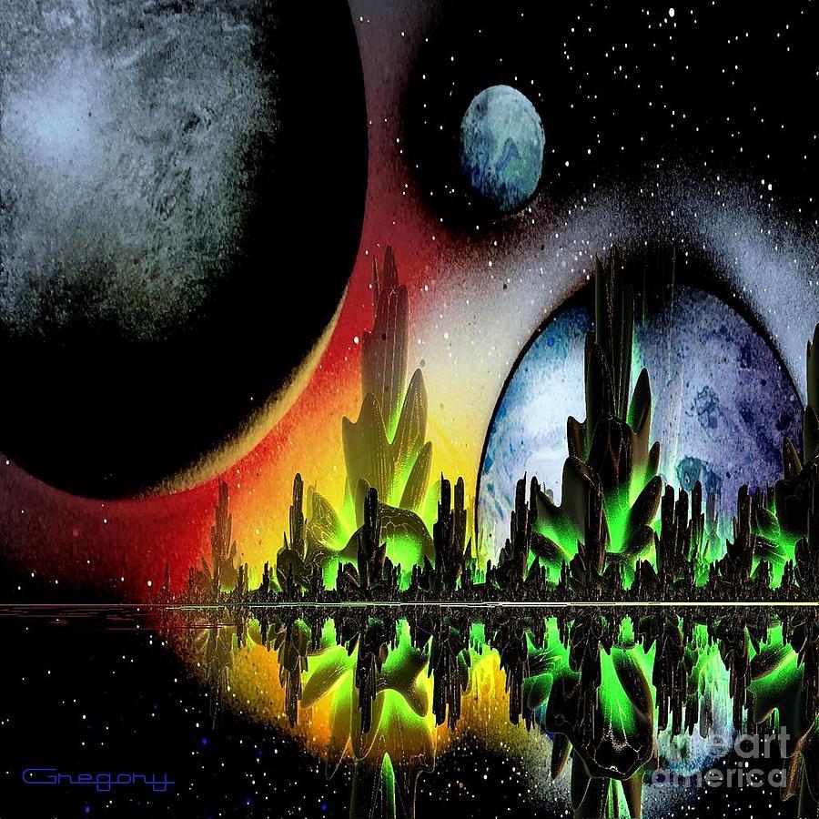 Venus Mixed Media - Lake Venus by Greg Moores