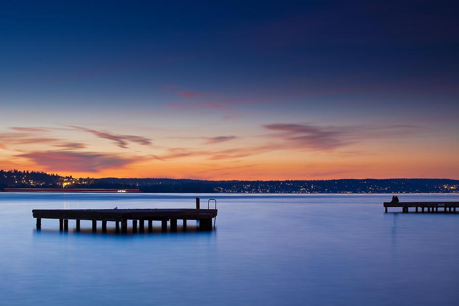 Twilight Photograph - Lake Washington Twilight by Manju Shekhar