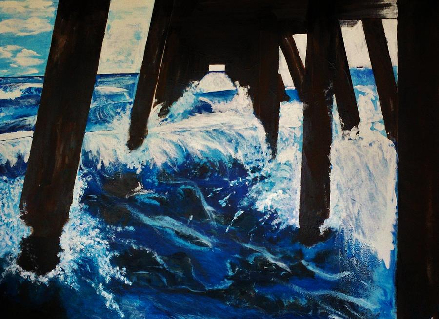 Fishing Pier Painting - Lake Worth Pier by Michael Henzel