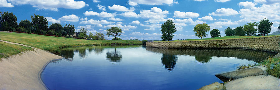 Clouds Photograph - Lakeridge Duck Pond by Robert Hudnall