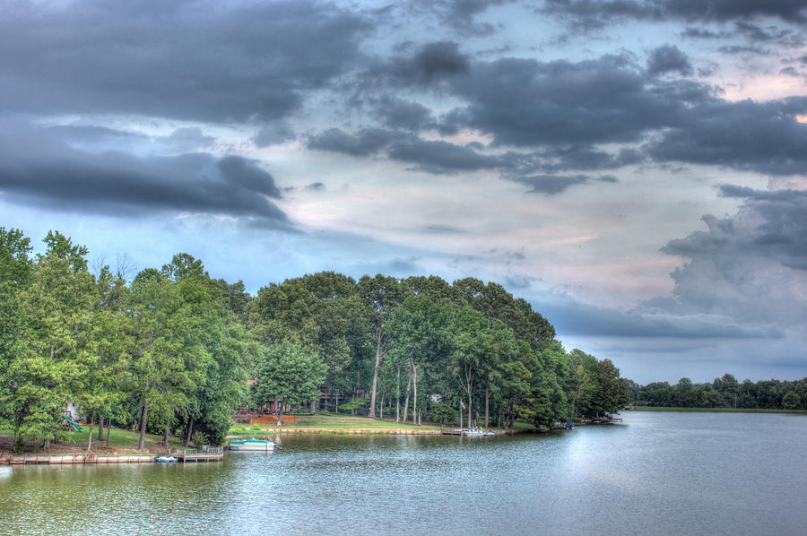Trees Photograph - Lakeside 2 by Barry Jones