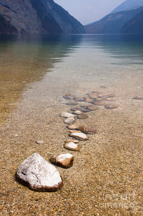 Alps Photograph - Lakestones by Andrew  Michael