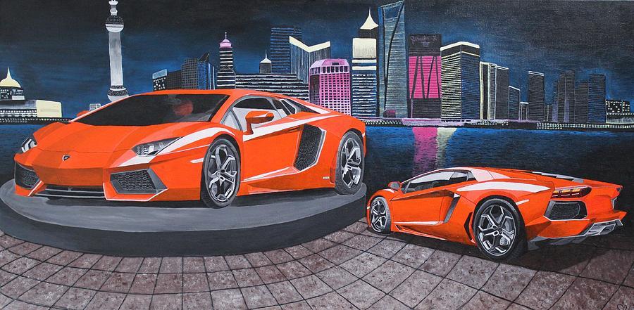 Lamborghini Aventador Painting By Jennifer Hayes
