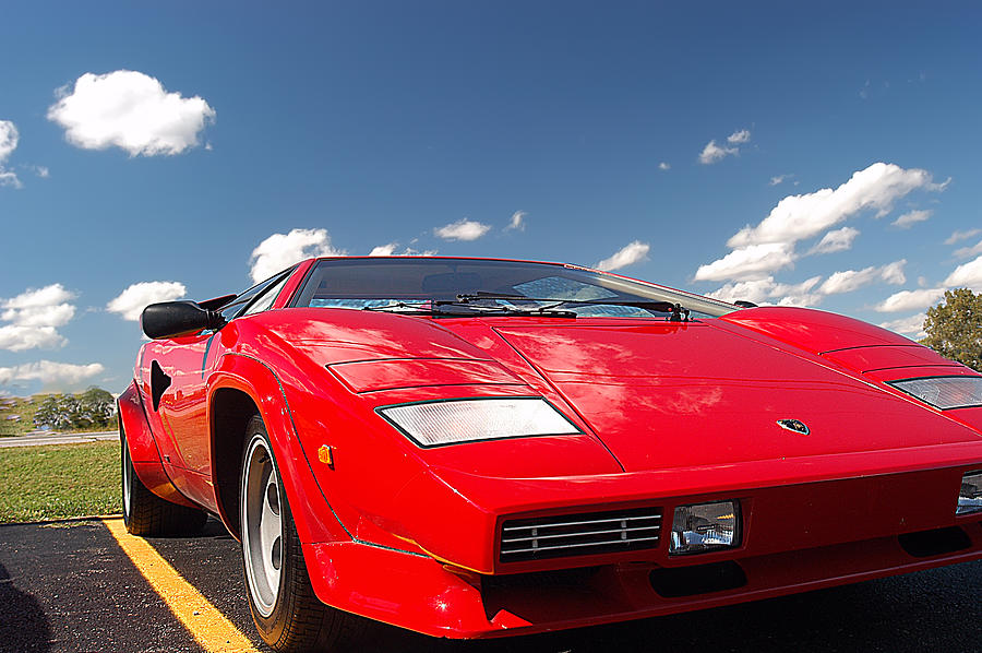 Red Lamborghini Photograph - Lamborghini by Randall Branham